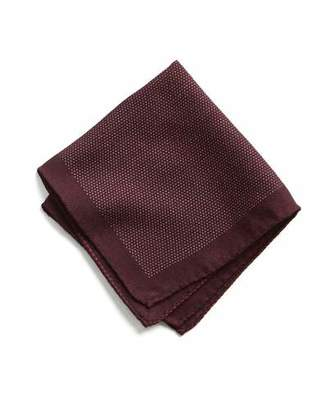 Todd Snyder Italian Wool Burgundy Pocket Square