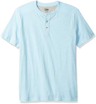 Lee Men's Short Sleeve Henley Casual T Shirt Regular Big Tall