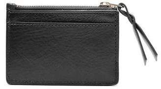 Lotuff Leather Lotuff Black Leather Zipper Credit Card Wallet
