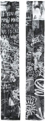 MM6 MAISON MARGIELA graffiti print fingerless gloves