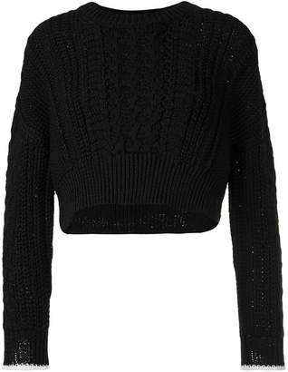 Coohem stretch cable knit jumper