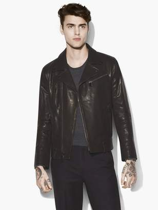 John Varvatos Leather Biker Jacket