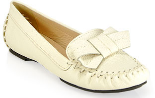 Kate Spade Willie - Cream Tumbled Leather Loafer