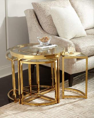 Regina-Andrew Design Regina Andrew Design Arpeggio Gold Side Table Set