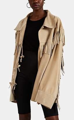 Maison Margiela Women's Fringed Suede Western Jacket - Beige, Tan