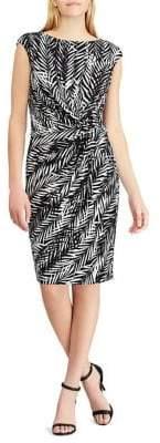 Lauren Ralph Lauren Printed Jersey Sheath Dress