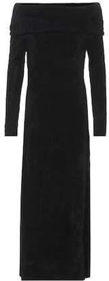 Oscar de la Renta Chenille off-the-shoulder dress