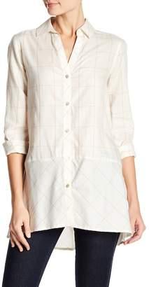 Foxcroft Daniela Windowpane Print Shirt