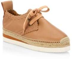 See by Chloe Glyn Leather Espadrille Sneakers