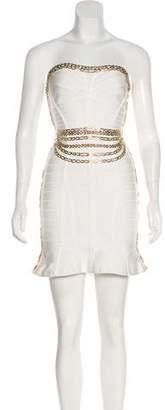 Herve Leger Embellished Bandage Dress