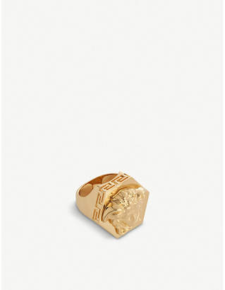 Versace Medusa head gold-plated ring