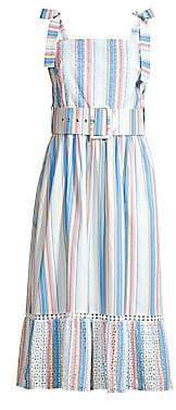 Shoshanna Women's Demeri Striped Eyelet Dress - Size 0