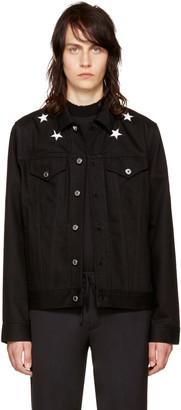 Givenchy Black Denim Stars Jacket $1,090 thestylecure.com