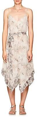 L'Agence Women's Azalea Snakeskin-Print Silk Slipdress
