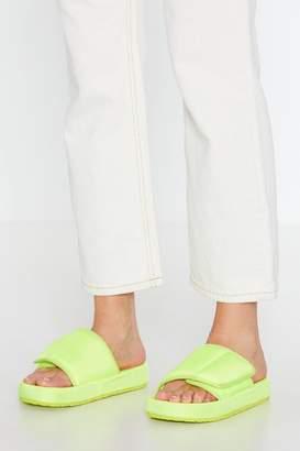 Nasty Gal Let It Slide Padded Velcro Sliders