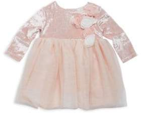 Baby Girl's Floral Silky Dress