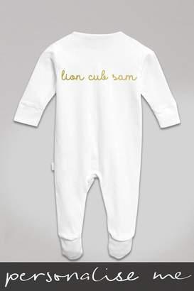 Next Personalised Lion Cub Sleepsuit