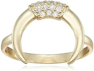 Shashi Horn Pave Ring