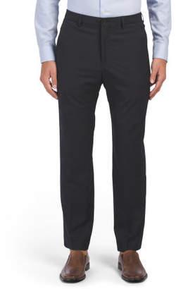 Comfort Waist Flat Front Trousers