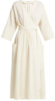 Mara Hoffman Anya Organic Cotton Wrap Midi Dress - Womens - Cream