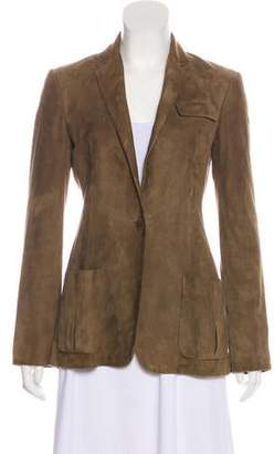 Ralph Lauren Purple Label Suede Notch-Lapel Jacket