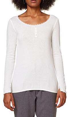 Esprit edc by Women's 098cc1k014 Long Sleeve Top, (Red 630), Large