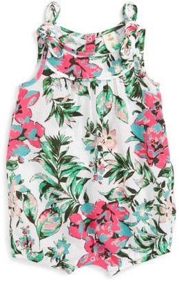 Infant Girl's Tucker + Tate Floral Print Romper $35 thestylecure.com