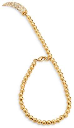 CC Skye Women's Crystal Studded Horn-Charm Bracelet