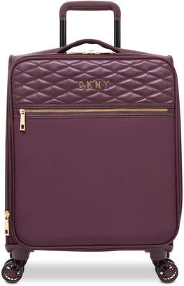 """DKNY Allure 21"""" Quilted Softside Carry-On Spinner Suitcase"""