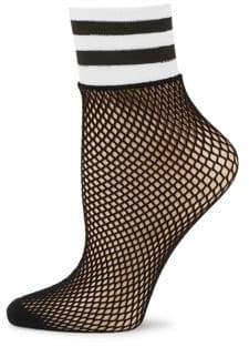 Free People Knit and Mesh Ankle Socks