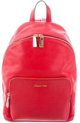 MICHAEL Michael Kors Perforated-Trim Leather Backpack