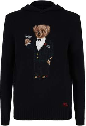 Polo Ralph Lauren Wool Polo Bear Knit Hoodie