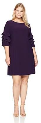 Gabby Skye Women's Woman's Plus Size Cha Sleeve Dress