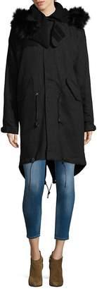 IRO Women's Faux Fur Trim Hooded Park