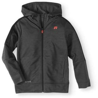 Russell Boys' Zip Up Active Track Jacket With Hood
