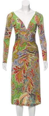 Etro Printed Long Sleeve Dress