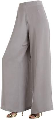 Siran Silk Crepe Marocain Pants With Slits