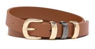 Linea Pelle Etched Triple Keeper Belt