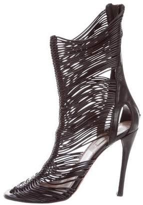 Alaia Leather High-Heel Pumps