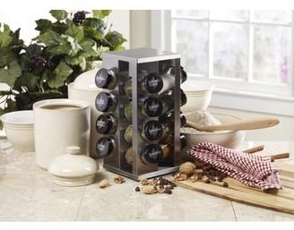 Kamenstein 16-Jar Stainless Steel Heritage Spice Rack