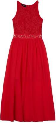 Amy Byer Iz Girls 7-16 IZ Sleeveless Lace Bodice Maxi Dress