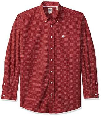 Cinch Men's Print Long Sleeve Button Down Shirt - Mtw1104610