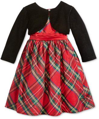 Blueberi Boulevard 2-Pc. Special Occasion Shrug & Plaid Dress, Toddler & Little Girls (2T-6X) $74 thestylecure.com