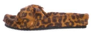 Alexander Wang Bee Leopard Fur Sandals w/ Tags brown Bee Leopard Fur Sandals w/ Tags