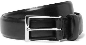 J.Crew 3cm Black Glossed-Leather Belt - Black