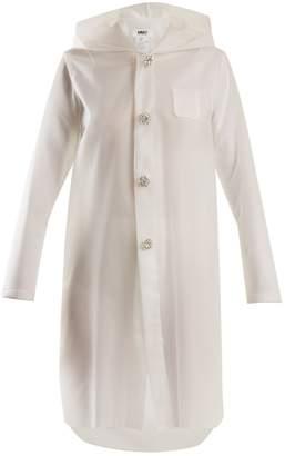 MM6 MAISON MARGIELA Hooded frosted rubberised raincoat