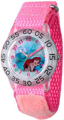 DISNEY PRINCESS Disney Princess Ariel The Little Mermaid Girls Pink Strap Watch-Wds000172