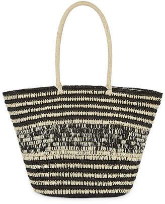 ST. JOHN'S BAY Straw Multi Color Tote Bag
