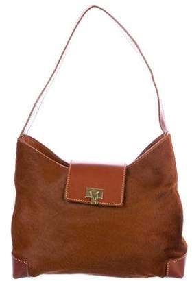 Lambertson Truex Leather-Trimmed Ponyhair Shoulder Bag