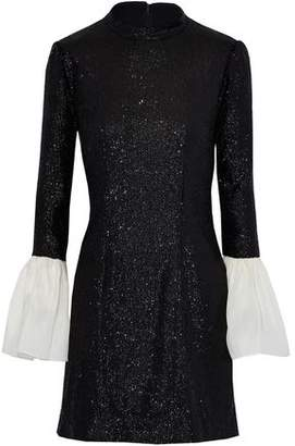 Rachel Zoe Organza-Paneled Sequined Tulle Mini Dress